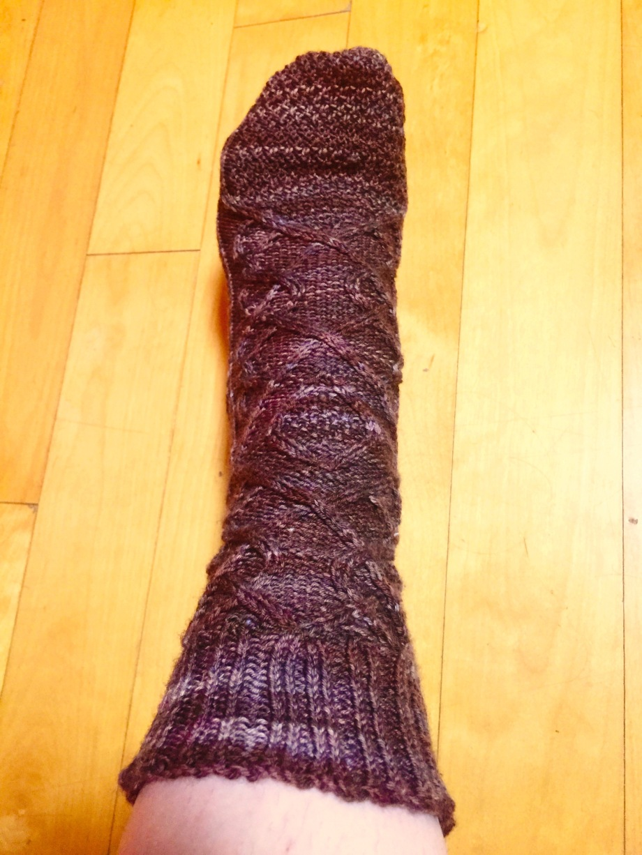 Unfinished socks.